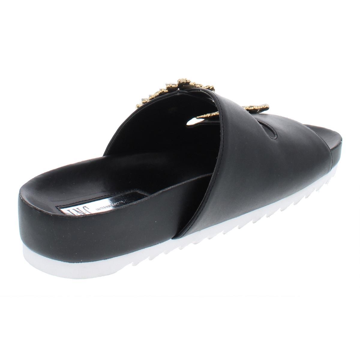 INC-Womens-Alani-Embellished-Metallic-Flat-Sandals-Shoes-BHFO-6405 thumbnail 4