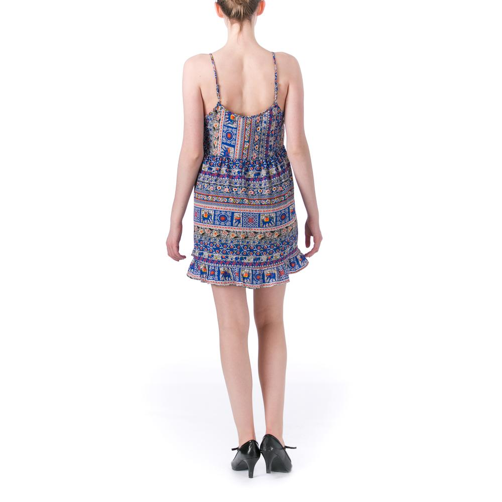 One Clothing 4891 Womens Ruffled Printed Above Knee Casual ...