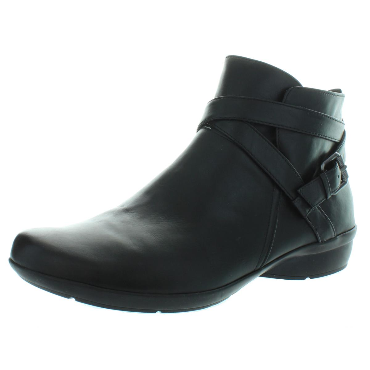 Array Womens Austin Black Suede Ankle Boots Shoes 10 Wide C,D,W BHFO 5485