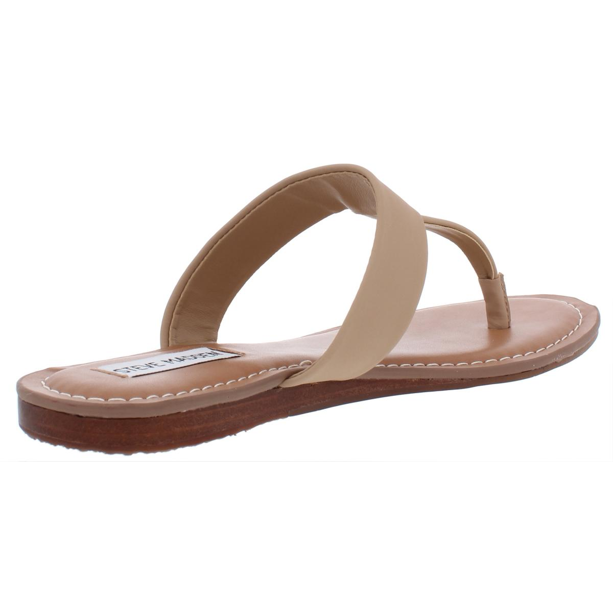 Steve-Madden-Womens-Vacay-Faux-Leather-Thong-Sandals-Flats-Shoes-BHFO-0099 thumbnail 6