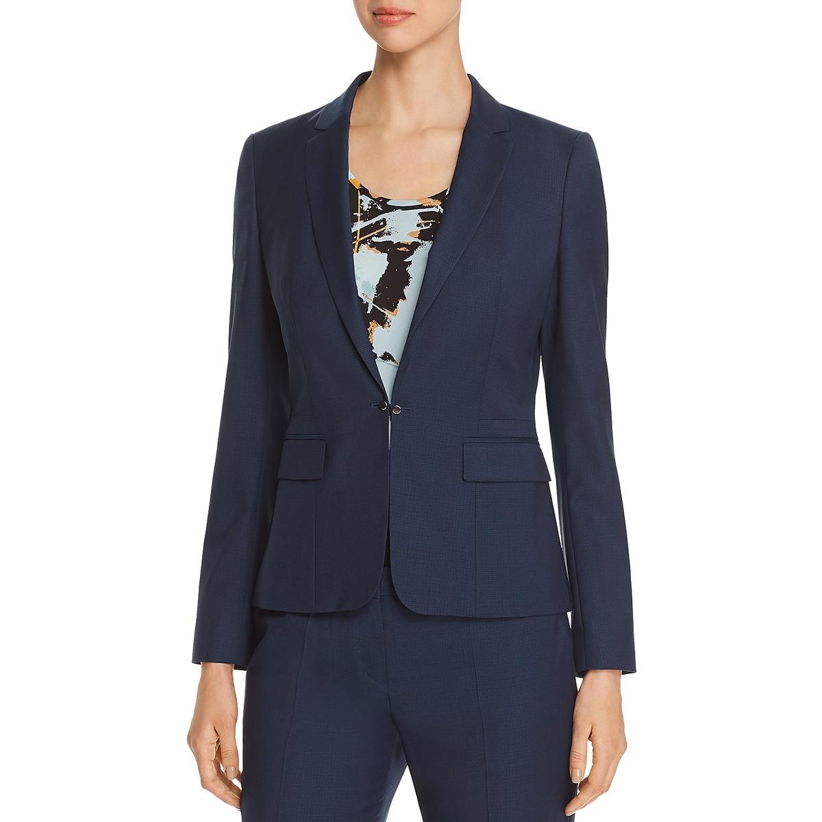 BOSS Hugo Boss Womens Jomanda Textured Two-Button Blazer Jacket BHFO 0897