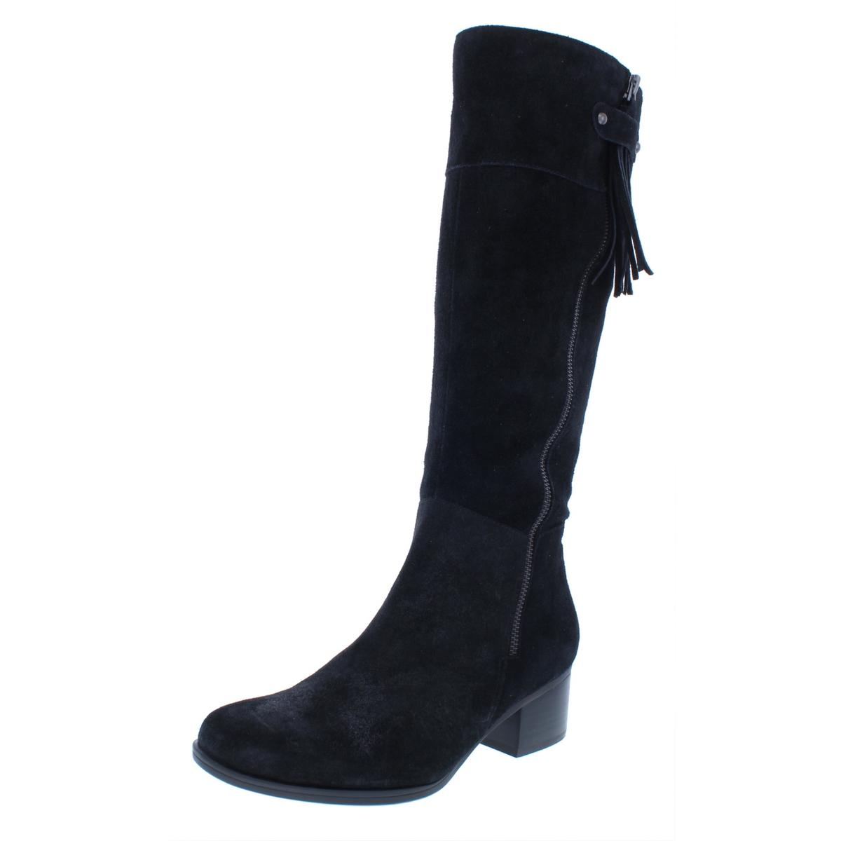 Naturalizer Para Mujer Demi Negro Zapatos botas De Montar medio 7.5 (B, M) BHFO 4366