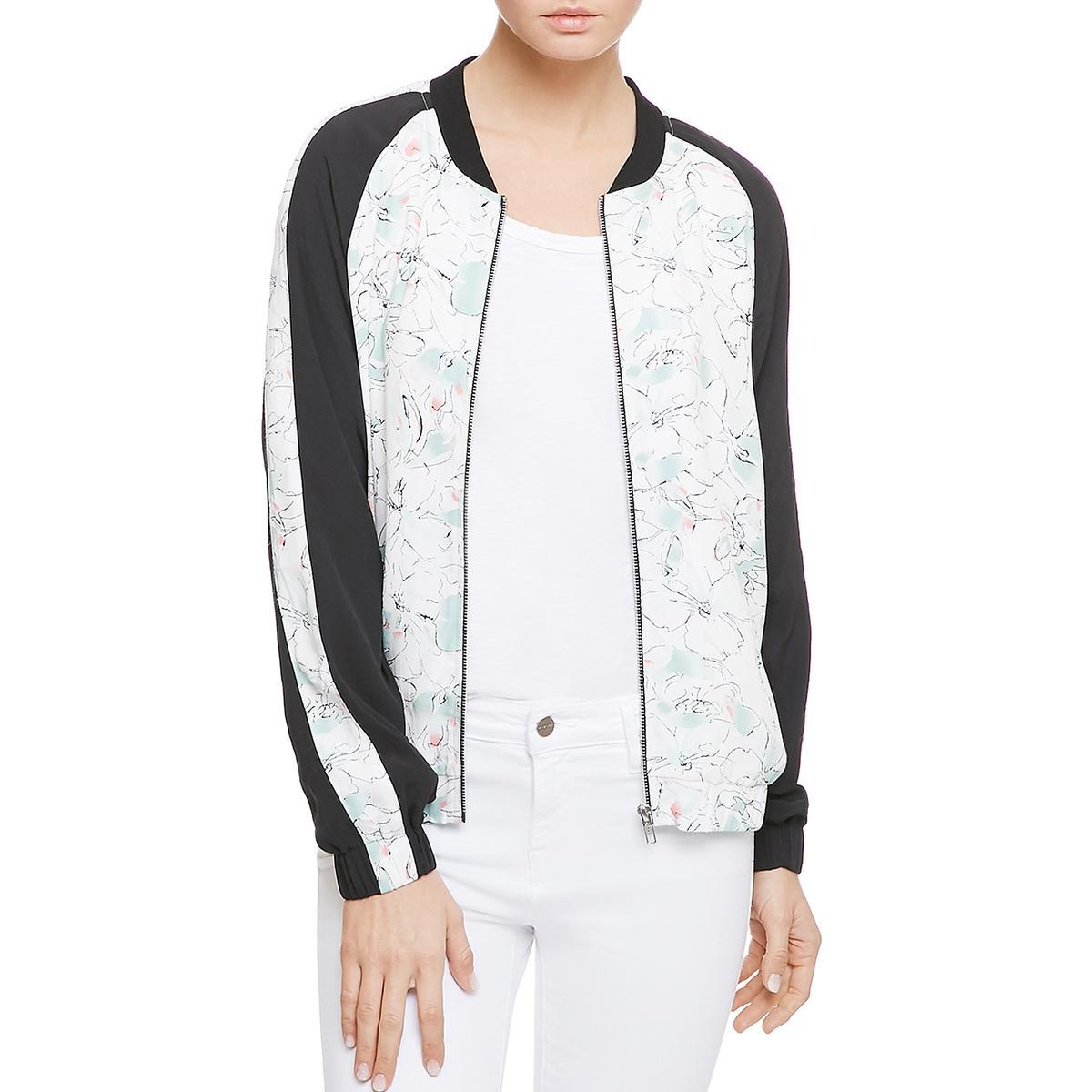 Details about Sanctuary Womens Outerwear Floral Print Crepe Bomber Jacket  Coat BHFO 3487 80a7d5d4a