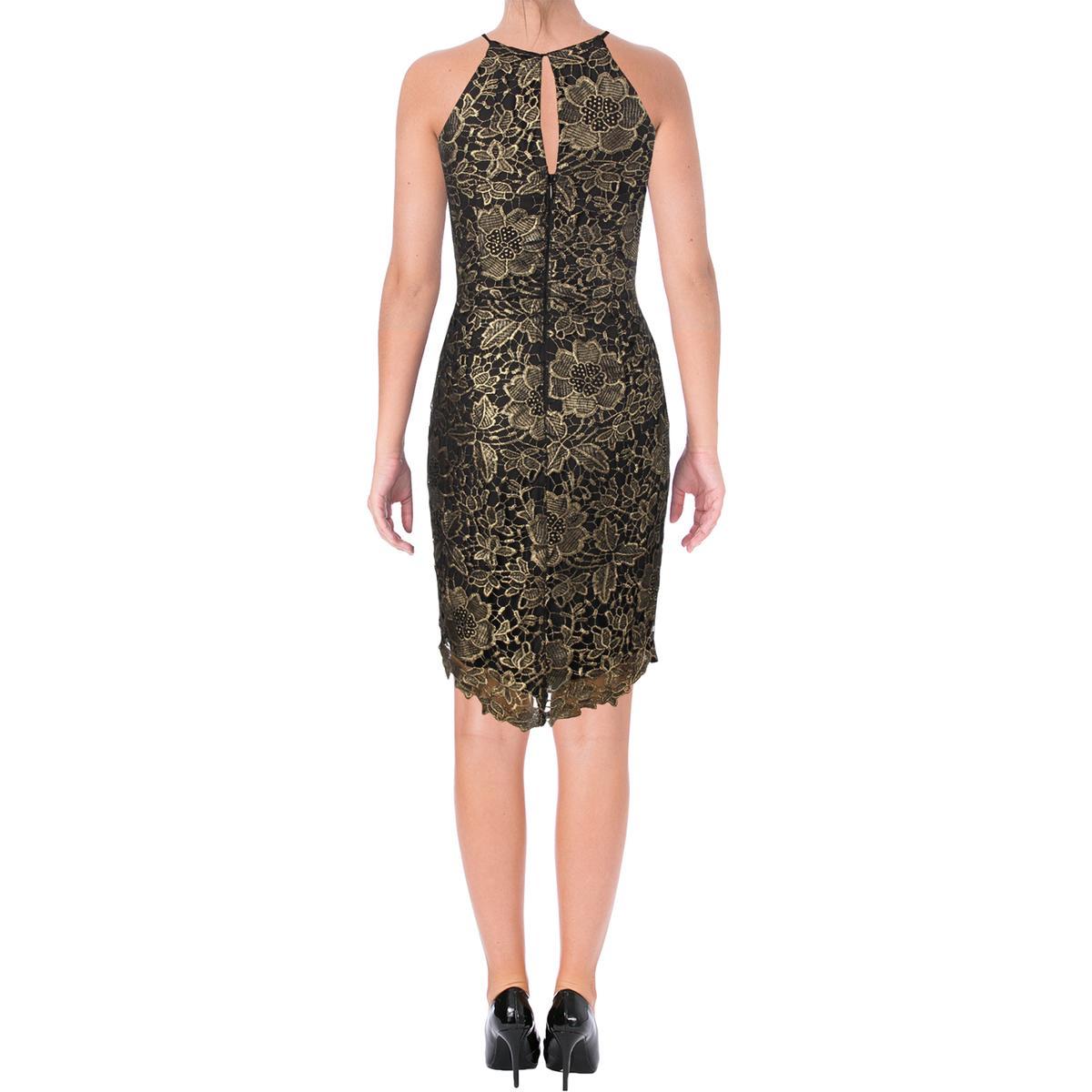 Lace Rae Womens Adelyn Metallic Clubwear Midi 5490 Dress Bhfo P7tqw