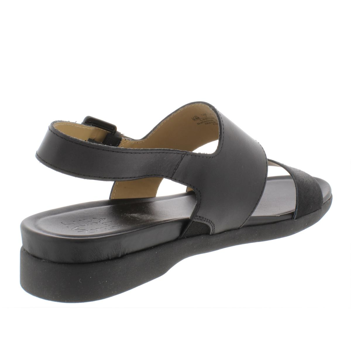 Naturalizer-Womens-Emory-Leather-Demi-Wedge-Casual-Strap-Sandals-Shoes-BHFO-6523 thumbnail 4
