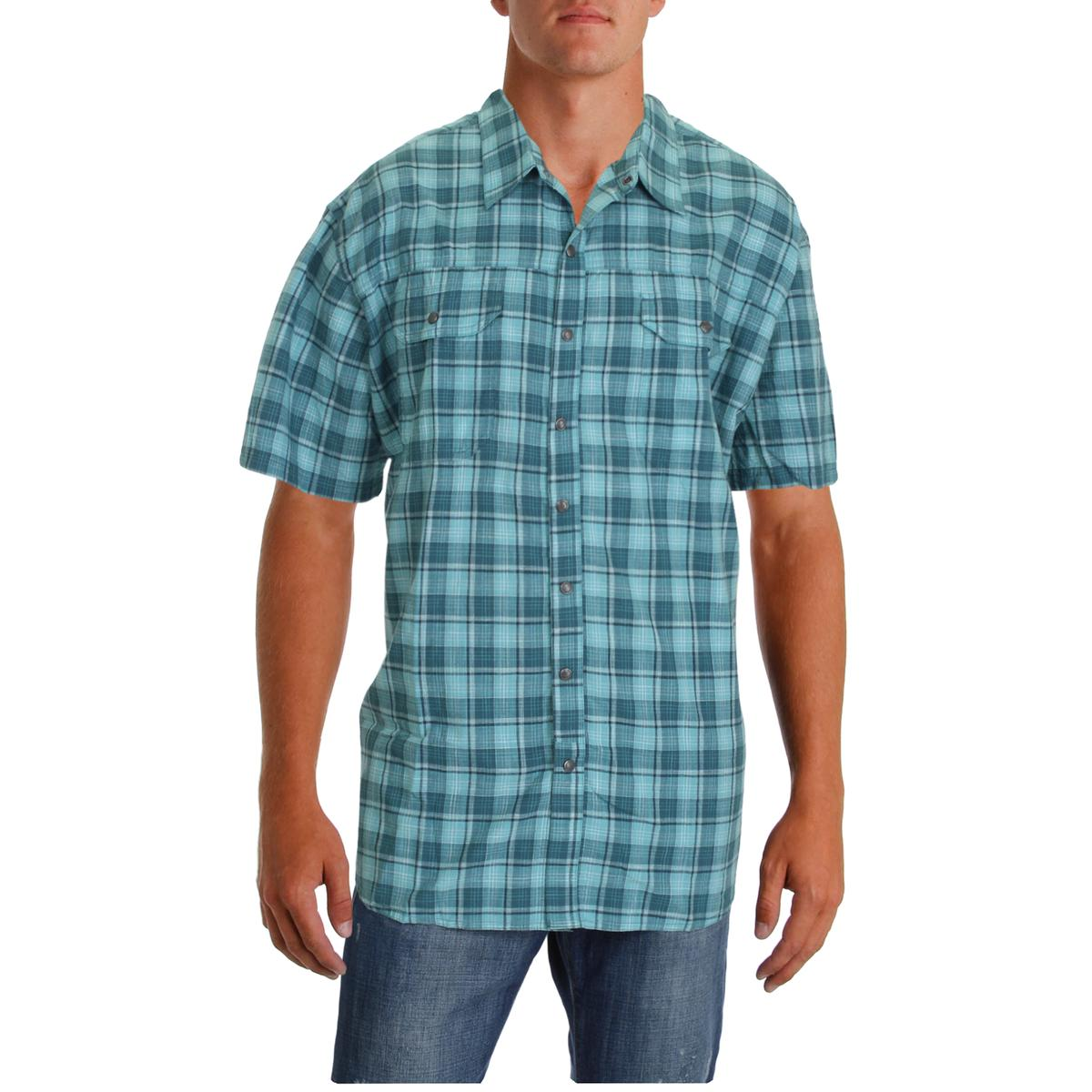 6d46eaf813b Details about Columbia Mens Leadville Ridge Plaid Button-Down Shirt Top Big  & Tall BHFO 7411