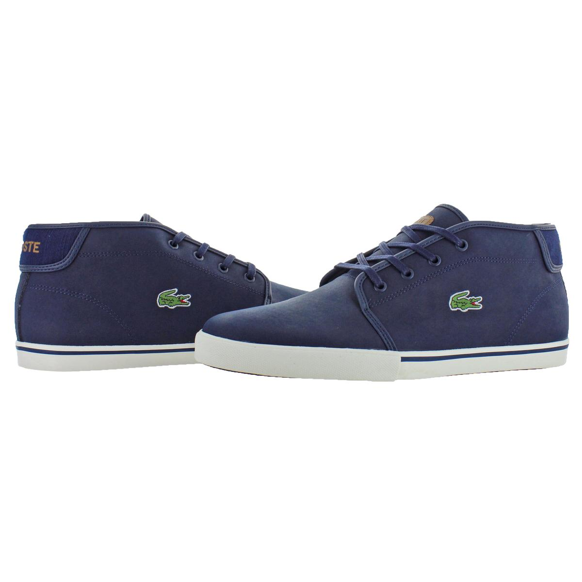94d3d3197 Lacoste Men s Ampthill Leather Chukka Mid-Top Fashion Sneakers Shoes ...
