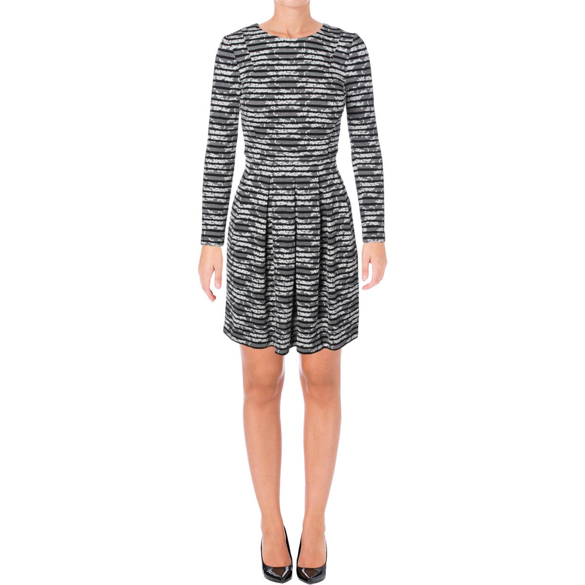 5d6615b83 Tommy Hilfiger Womens Floral Striped Long Sleeve Cocktail Dress BHFO ...