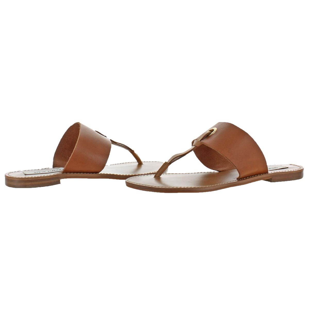 4116d89e242d Details about Steve Madden Women s Ringer Leather Casual Thong Sandals  Shoes Tan Size 6
