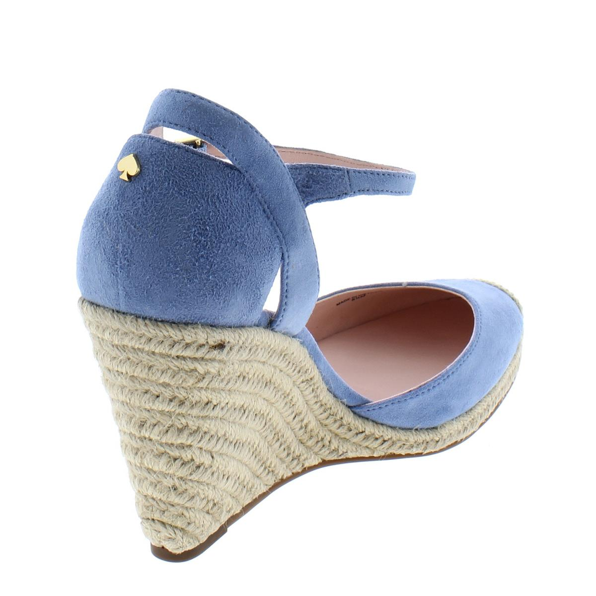 Kate-Spade-Womens-Giovanna-Suede-Espadrille-Dressy-Wedge-Heels-Shoes-BHFO-7983 thumbnail 4