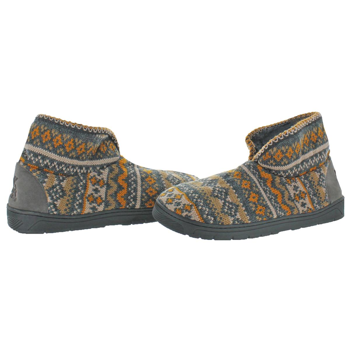 Mukluks-Men-039-s-Mark-Sweater-Knit-Furpa-Ankle-Bootie-House-Slippers thumbnail 6
