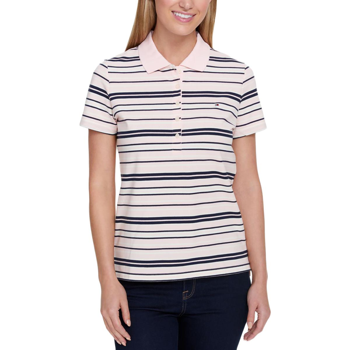 86bc8008 Image is loading Tommy-Hilfiger-Womens-Multi-Casual-Short-Sleeve-Striped-