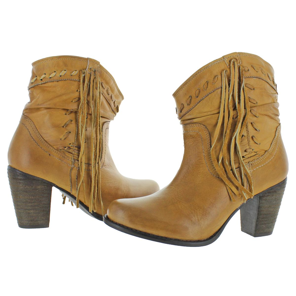Naughty-Monkey-Womens-Noe-Leather-Block-Heel-Bootie-Ankle-Boots-Shoes-BHFO-9116 thumbnail 3