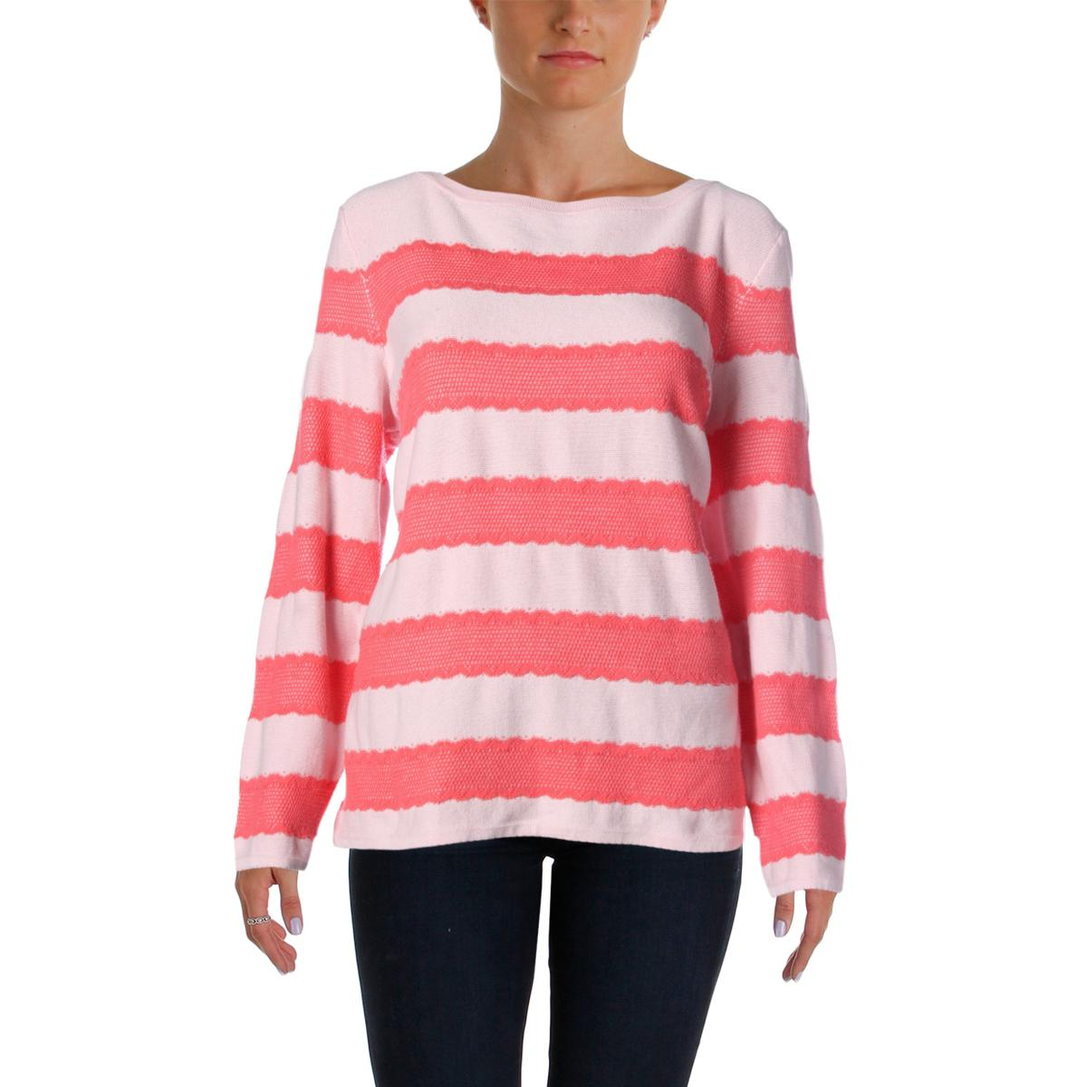 tommy hilfiger 2690 womens heathered lace trim pullover sweater top bhfo ebay. Black Bedroom Furniture Sets. Home Design Ideas