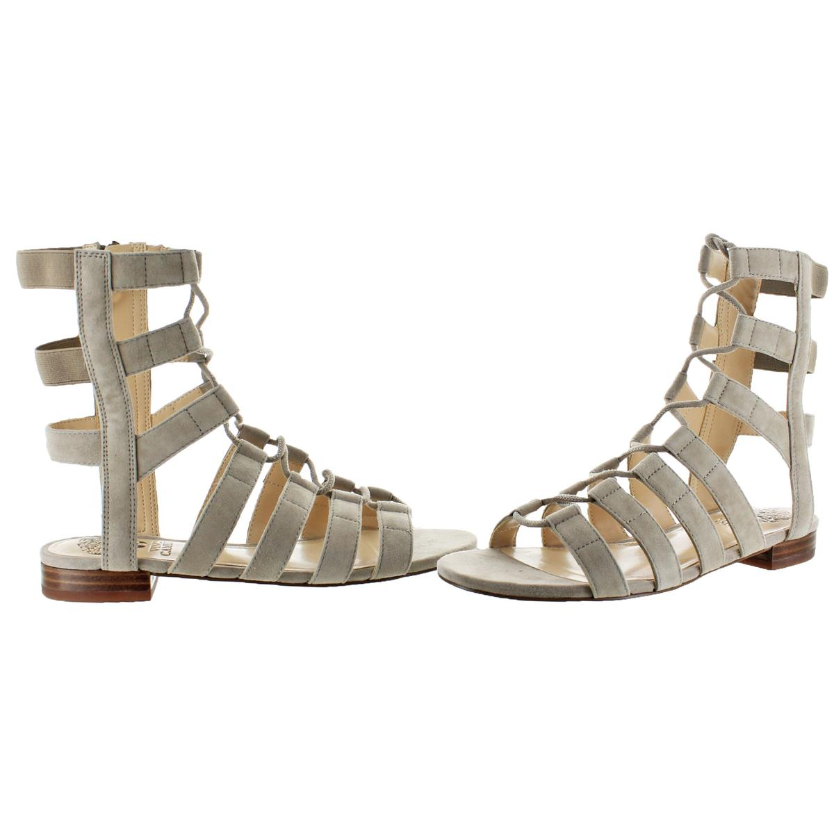 Vince-Camuto-Helayn-Women-039-s-Suede-Open-Toe-Ghillie-Caged-Sandals-Shoes thumbnail 7