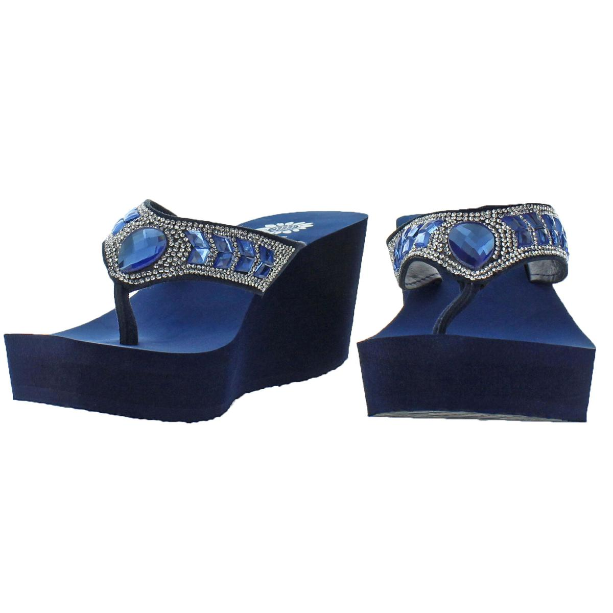 Yellow-Box-Women-039-s-Belmac-Rhinestone-EVA-Wedge-Thong-Sandals thumbnail 7