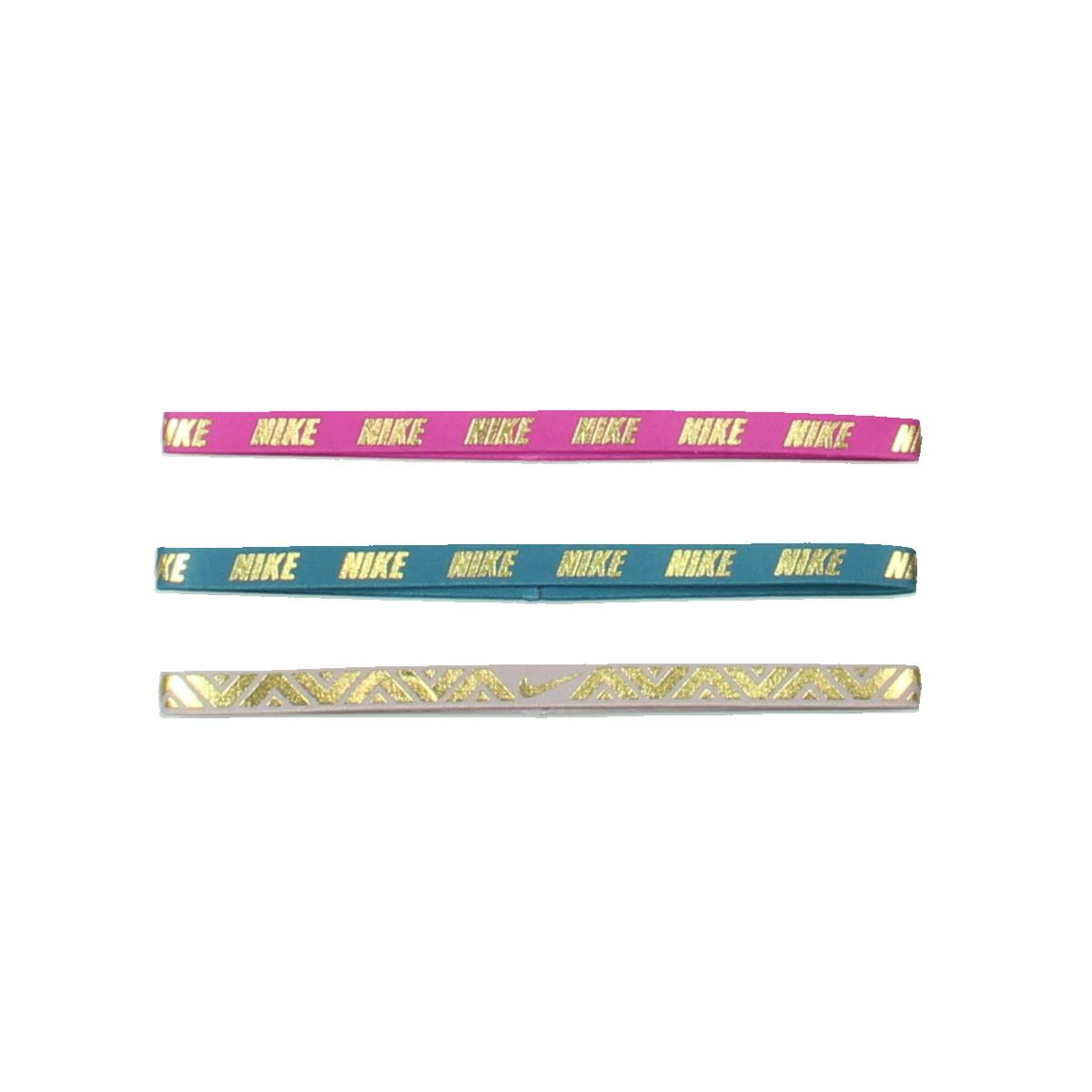 c82c8ead2bc61 Nike Pink Metallic 3 Pack Sport Headband O S BHFO 0827 887791166647 ...