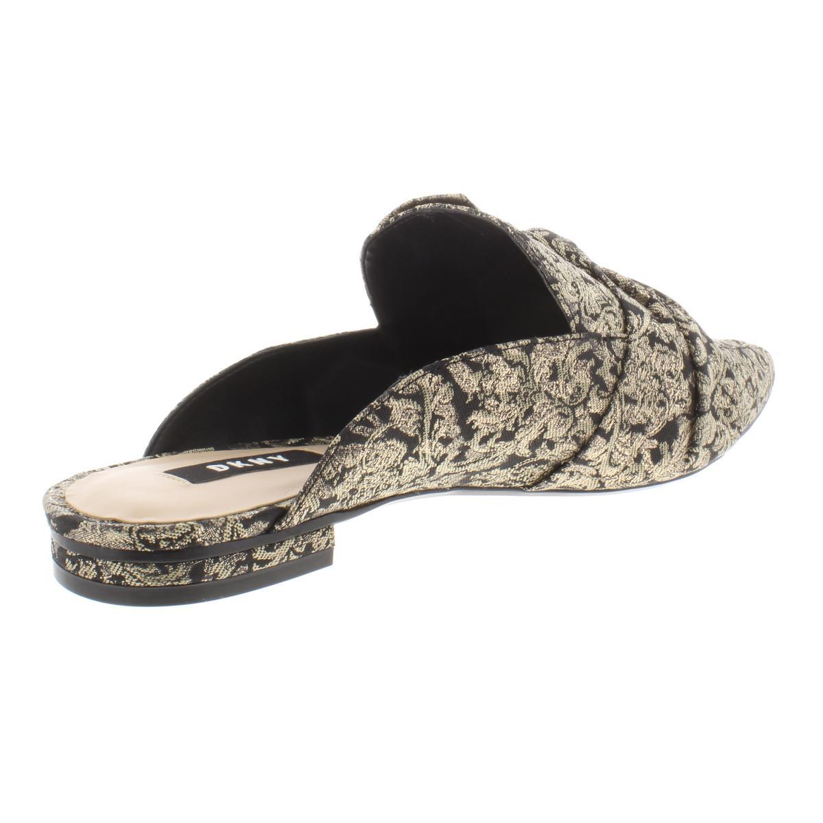 DKNY-Womens-Pier-Metallic-Dress-Slides-Mules-Flats-BHFO-6684 thumbnail 4