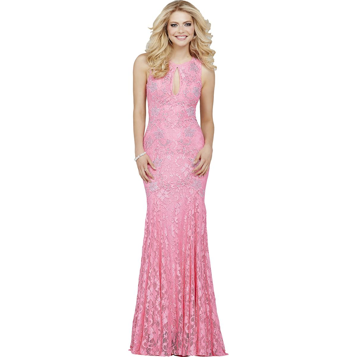 Jovani 6695 Pink Lace Open Back Prom Formal Dress Gown 6 BHFO | eBay