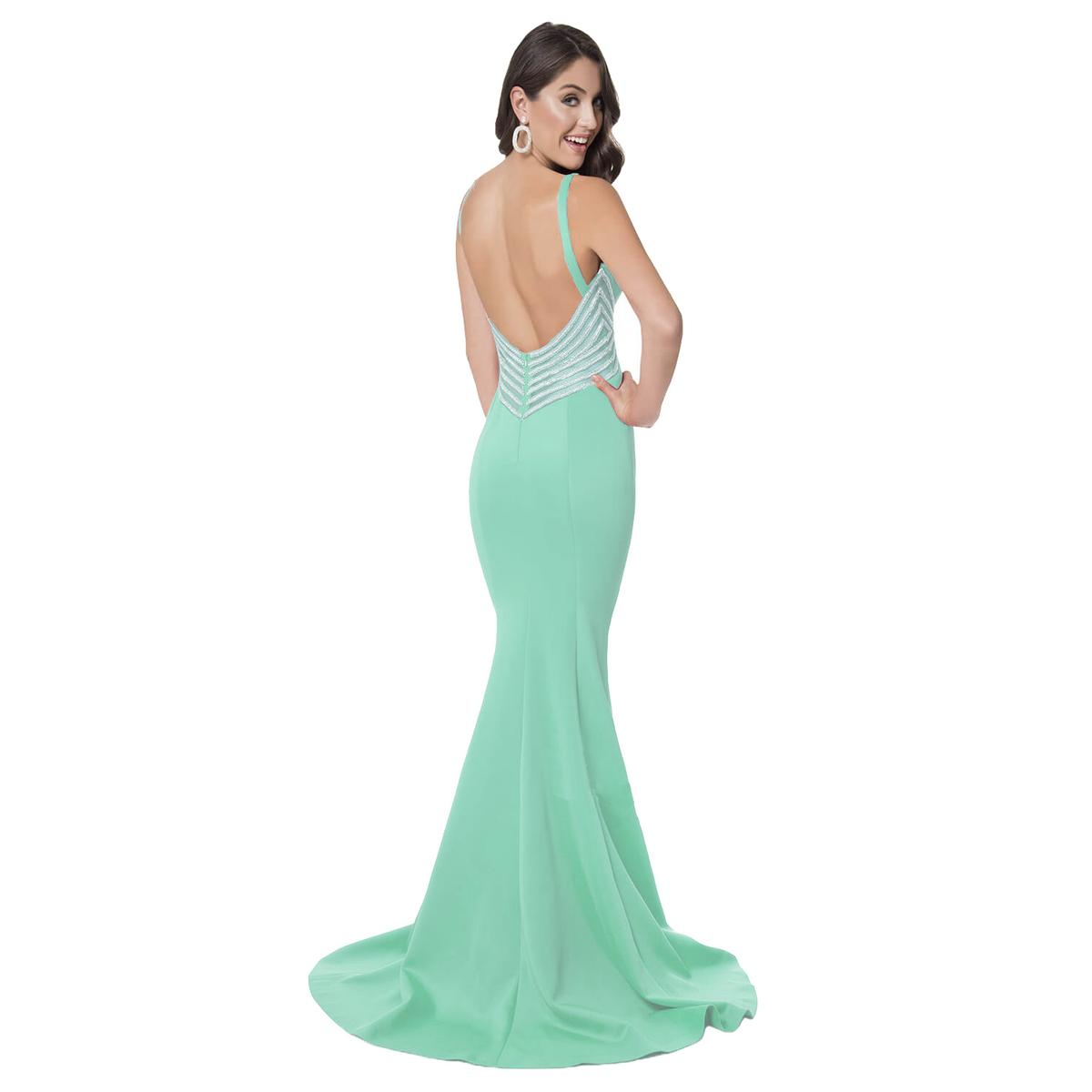 fe96ff05991 Terani Couture Beaded Illusion Promt Formal Dress Gown BHFO 9966