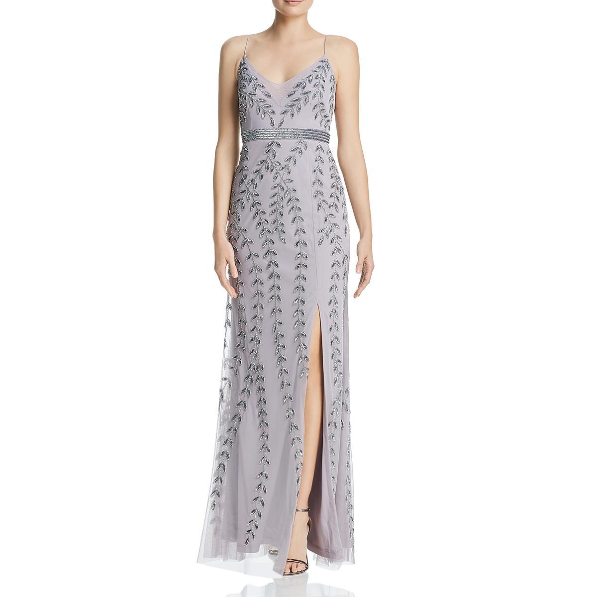 Keepsake Womens Shadow Stripe Sleeveless Formal Evening Dress Gown BHFO 6271