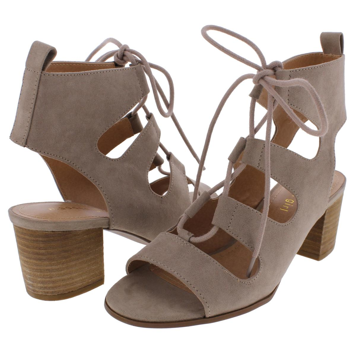 fa1e3f56f51 Details about Madden Girl by Steve Madden Womens Booyah Sandals Lace-Up  Heels Shoes BHFO 9876