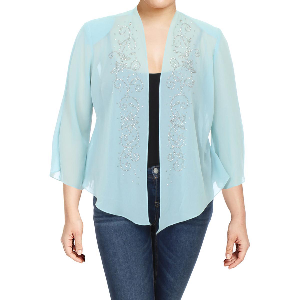 Jessica Howard Womens Lace Glitter Cardigan Top Jacket BHFO 4305