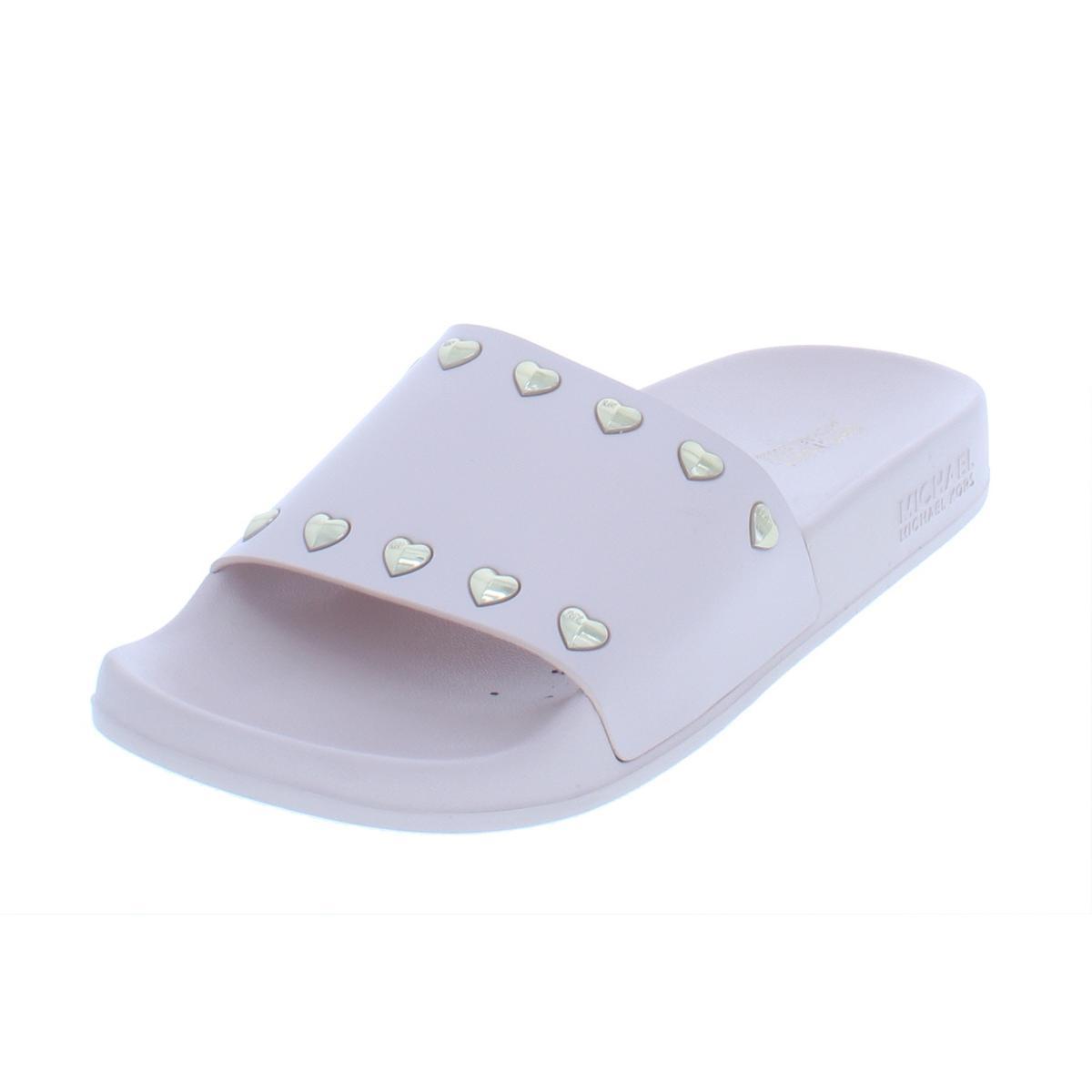 e48279ee8b90 Details about MICHAEL Michael Kors Womens Zooey Open Toe Studded Slide  Sandals Shoes BHFO 5841