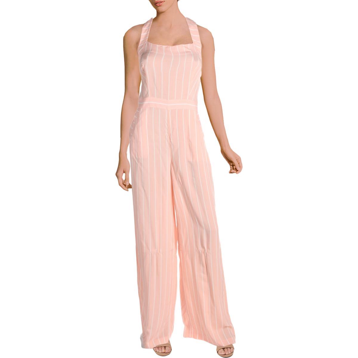 c1bea4f1fa7 Juicy Couture Black Label Womens Pink Halter Wide Leg Jumpsuit 4 ...