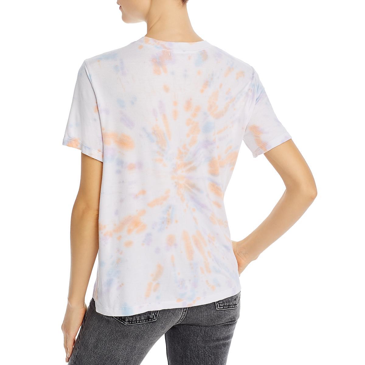 thumbnail 4 - Aqua Womens Oversized Tie Dye Crewneck T-Shirt Top BHFO 4407