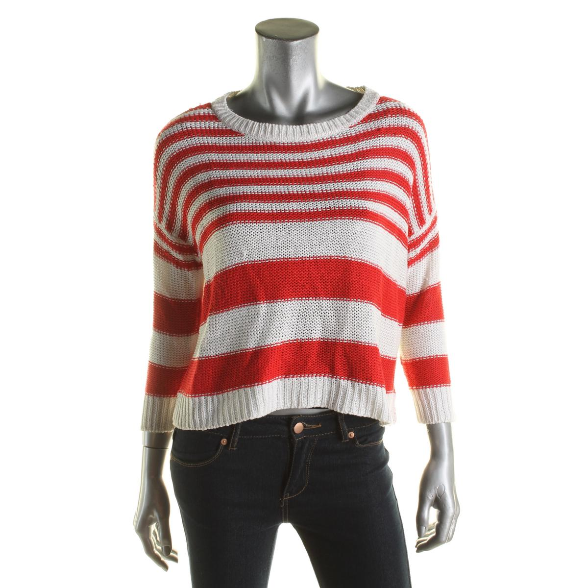Rd Style Womens Red/white Striped Pullover Sweater Size Small | eBay