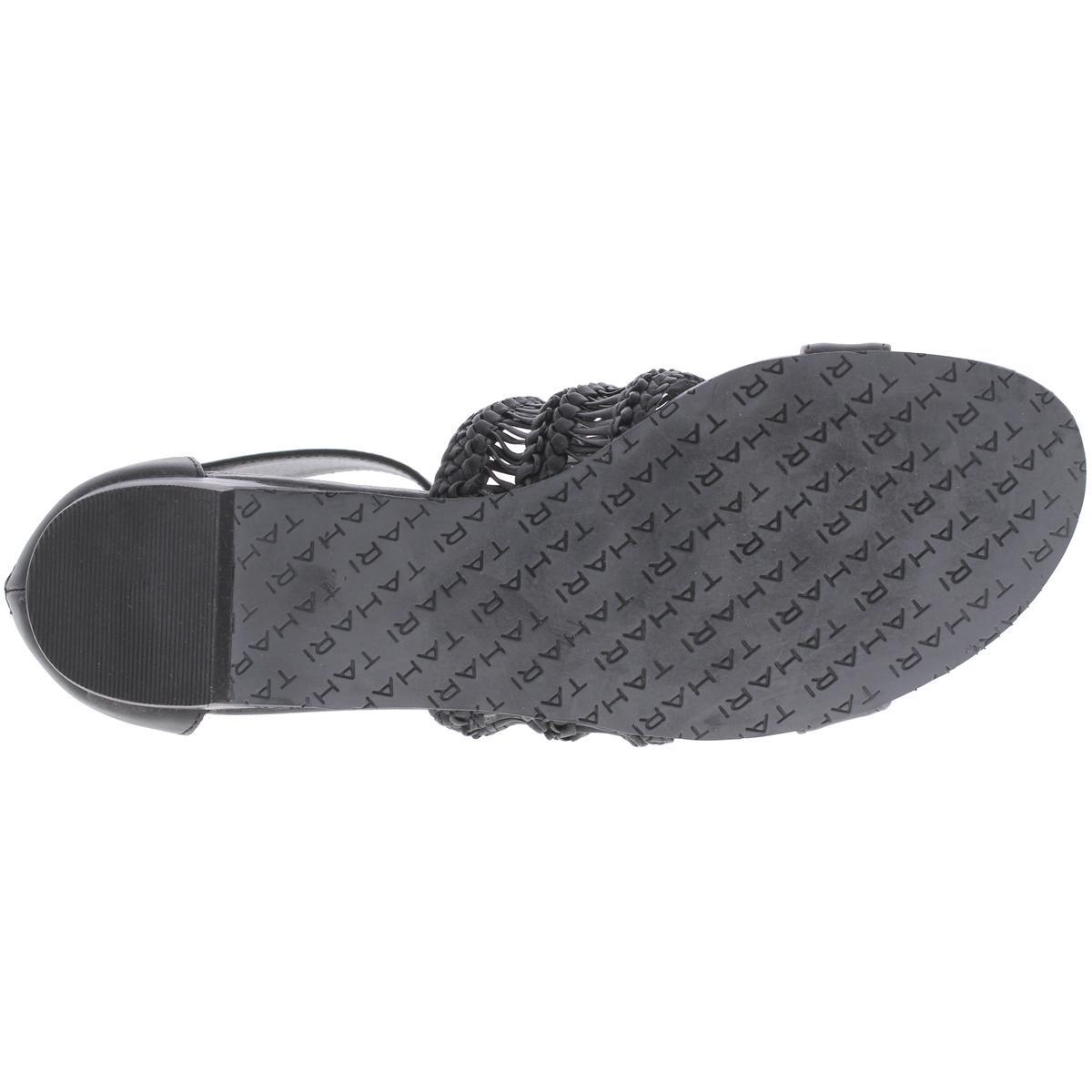 Tahari-Womens-Dorm-Open-Toe-Textured-Ankle-Flat-Sandals-Shoes-BHFO-3387 thumbnail 9