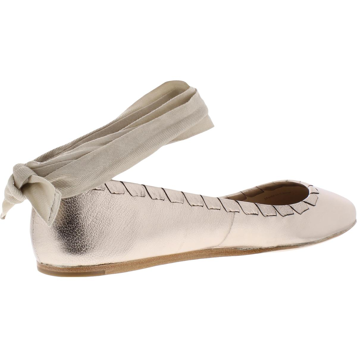 Via-Spiga-Womens-Baylie-Leather-Round-Toe-Ballet-Flats-Shoes-BHFO-6888 thumbnail 6