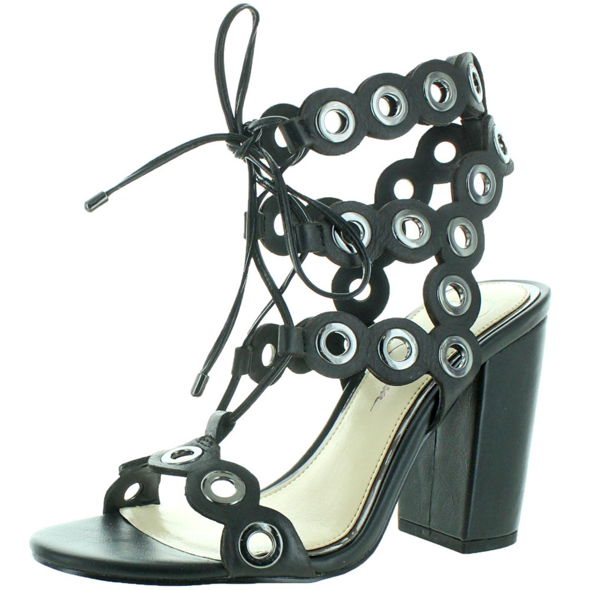 bf44953e19c7 Jessica Simpson Kariss Strappy Embellished Block Heel Sandals Black ...