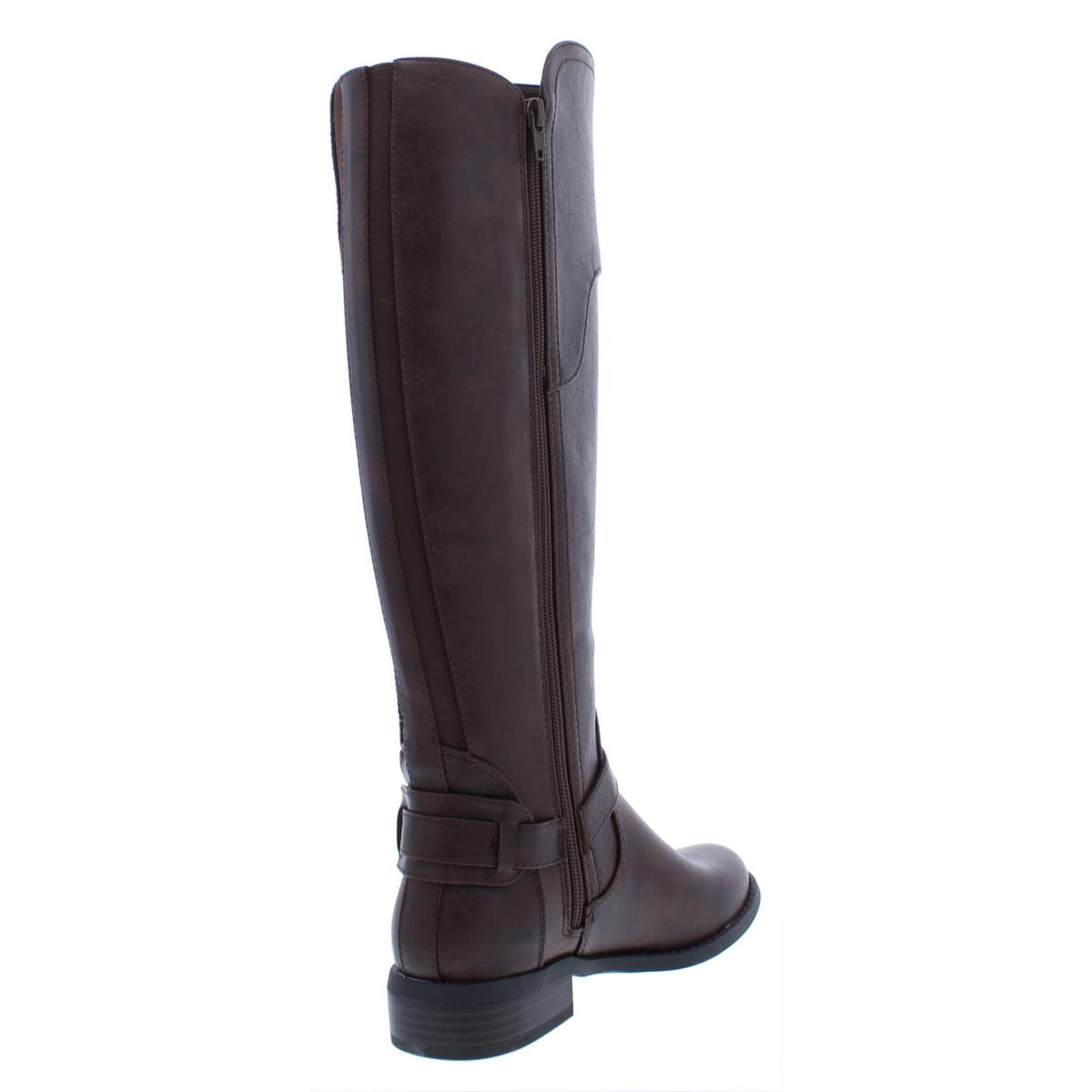874884c1b14 G by GUESS Harson Wide Calf Flat Knee-high BOOTS Dark Brown 5.5 US ...