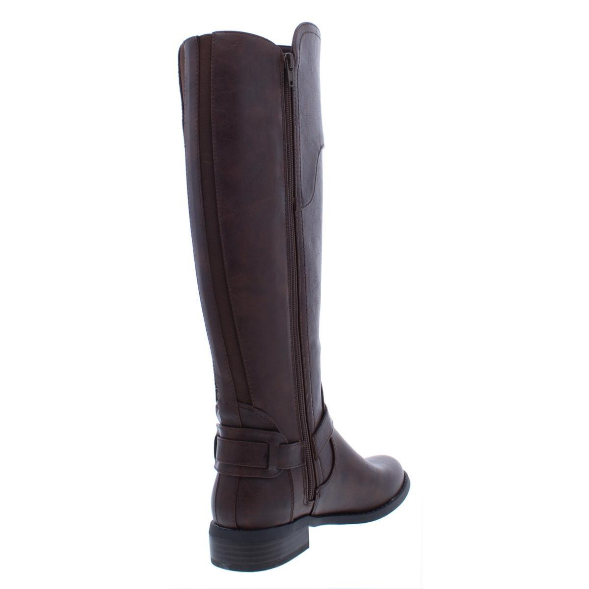 4a8ec678676c G by GUESS Harson Wide Calf Flat Knee-high BOOTS Dark Brown 5.5 US ...
