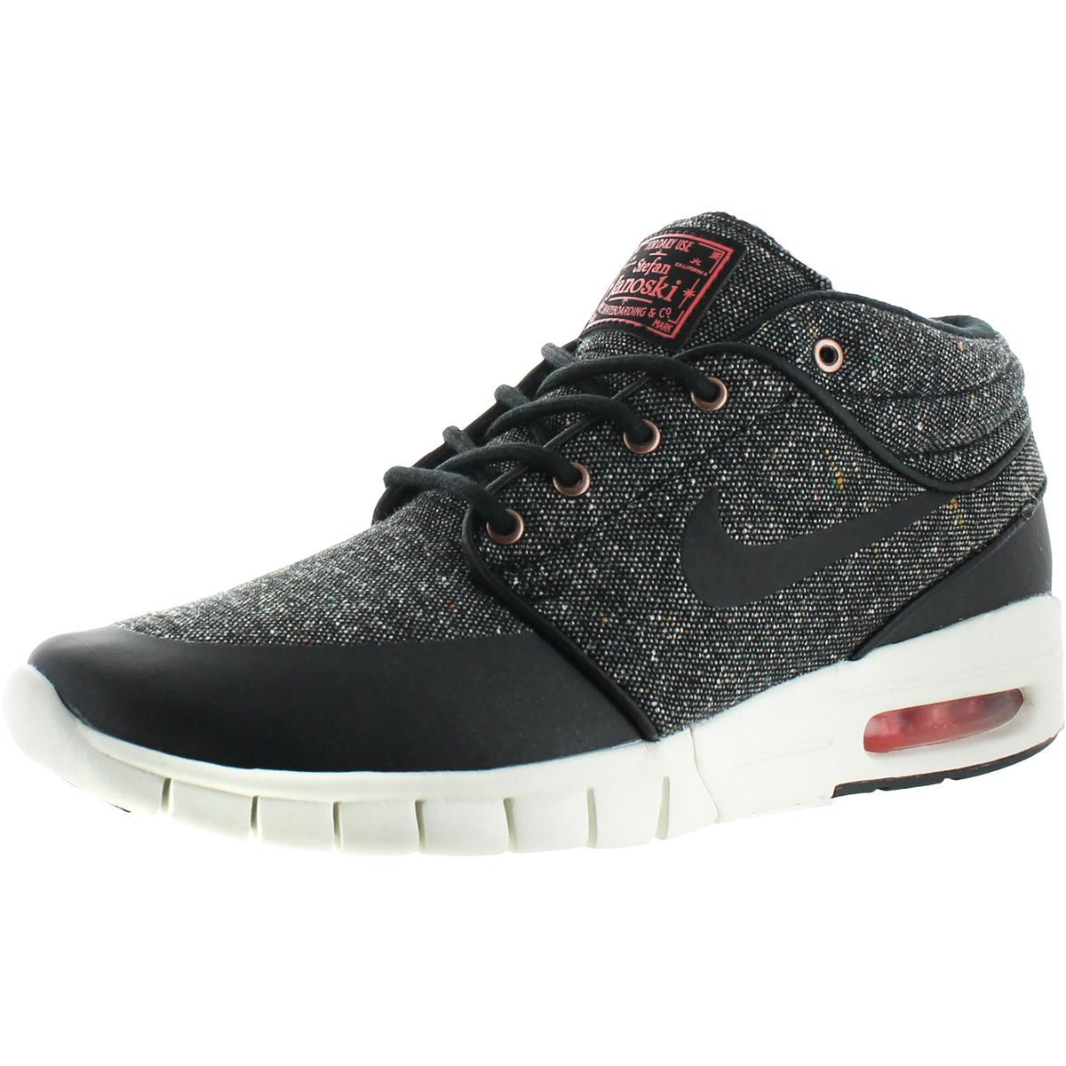 separation shoes 9016e 0ab78 Details about Nike Mens Stefan Janoski Max Mid Black Skate Shoes 6.5 Medium  (B,M) BHFO 9808
