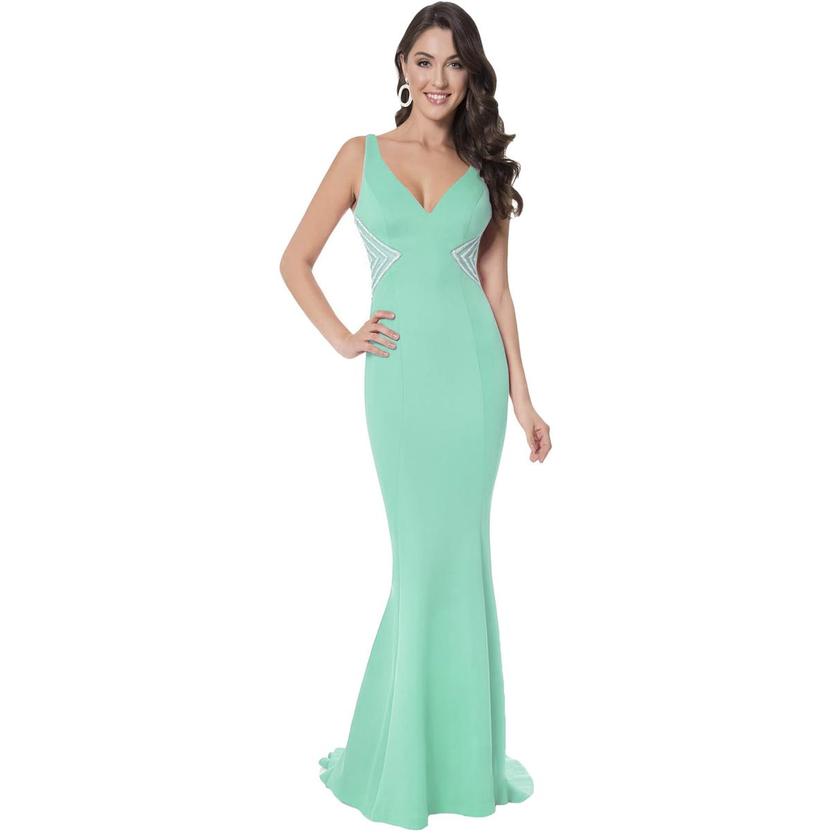 bbef4d9dfb3 Details about Terani Couture Beaded Illusion Promt Formal Dress Gown BHFO  9966