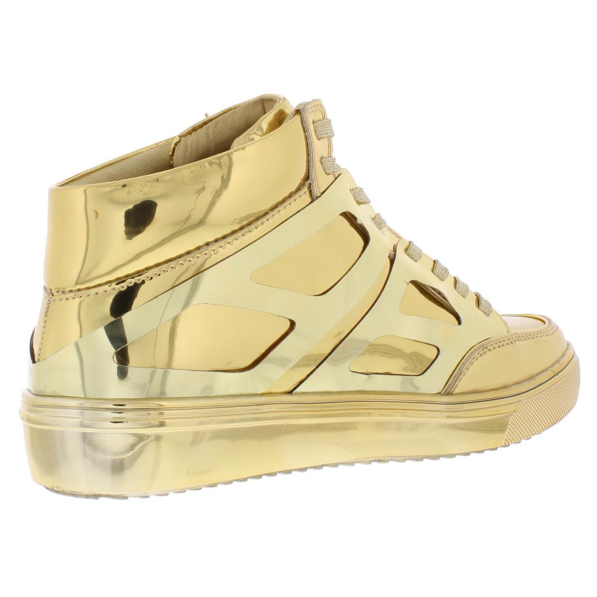 Steve-Madden-Womens-Tinman-2-Metallic-High-Top-Fashion-Sneakers-Shoes-BHFO-9056 thumbnail 4