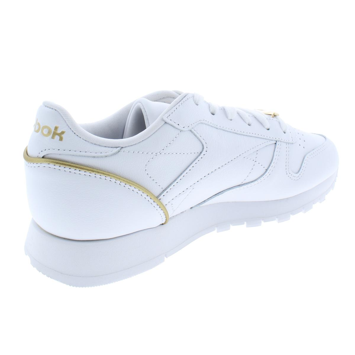 Reebok Womens Classic Leather HW White Sneakers Shoes 7.5 Medium (B,M) BHFO 7618