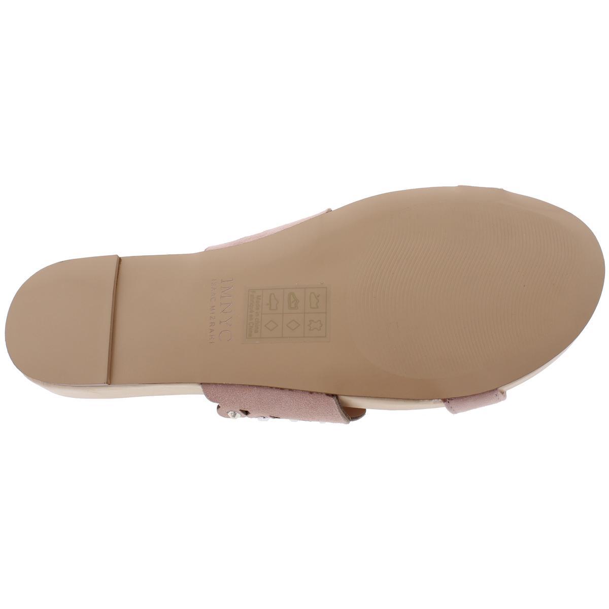 IMNYC-Isaac-Mizrahi-Womens-Suzie-Open-Toe-Studded-Slide-Sandals-Shoes-BHFO-2715 thumbnail 12