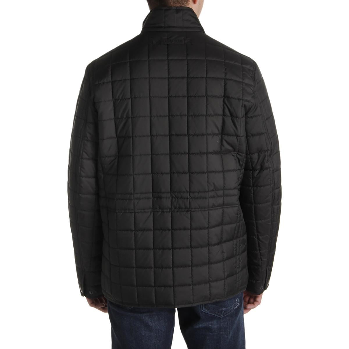 Tommy Hilfiger Mens Quilted Military Puffer Jacket