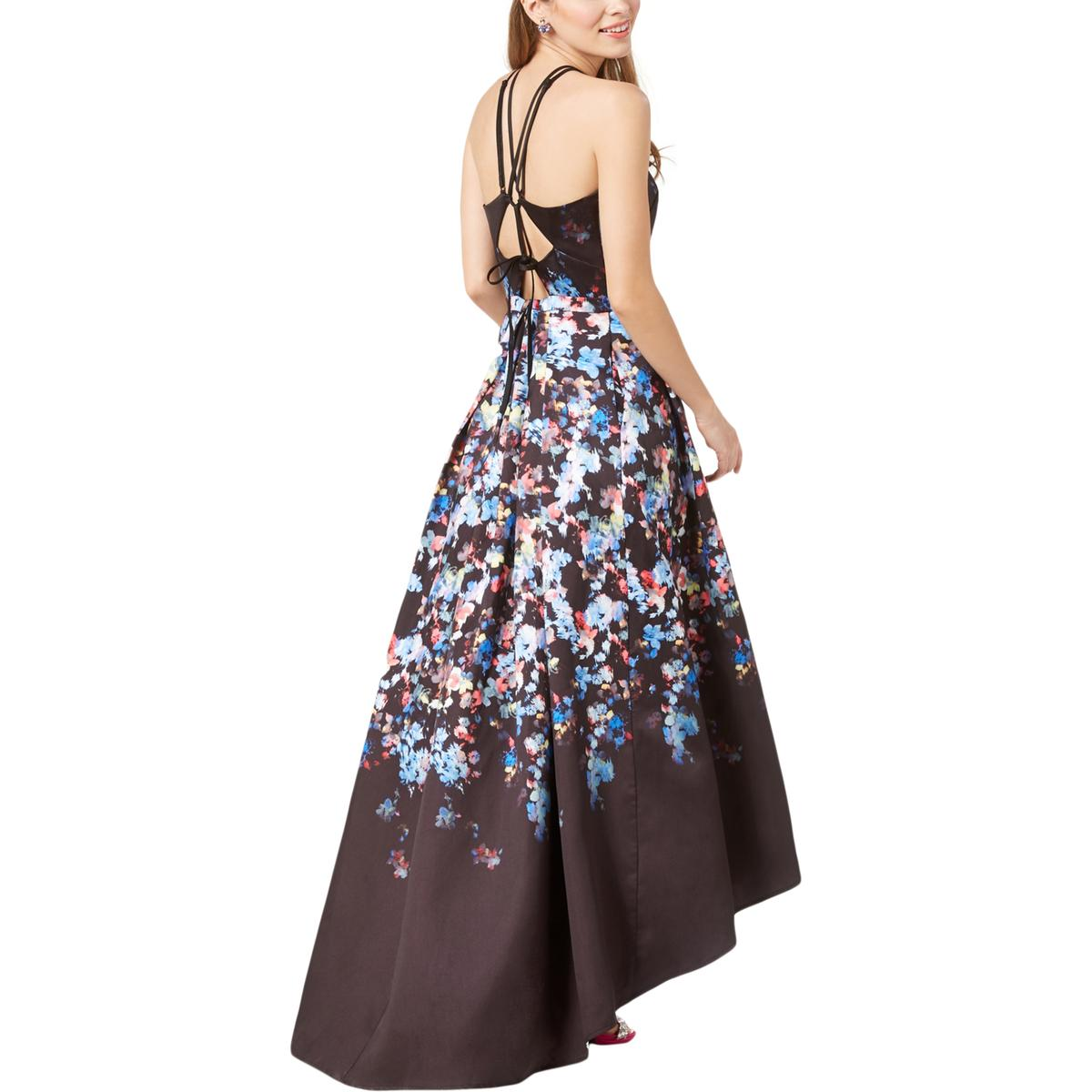 20ab10b90 Details about Morgan & Co. Womens Black Floral Special Occasion Dress Gown  Juniors 1 BHFO 7620