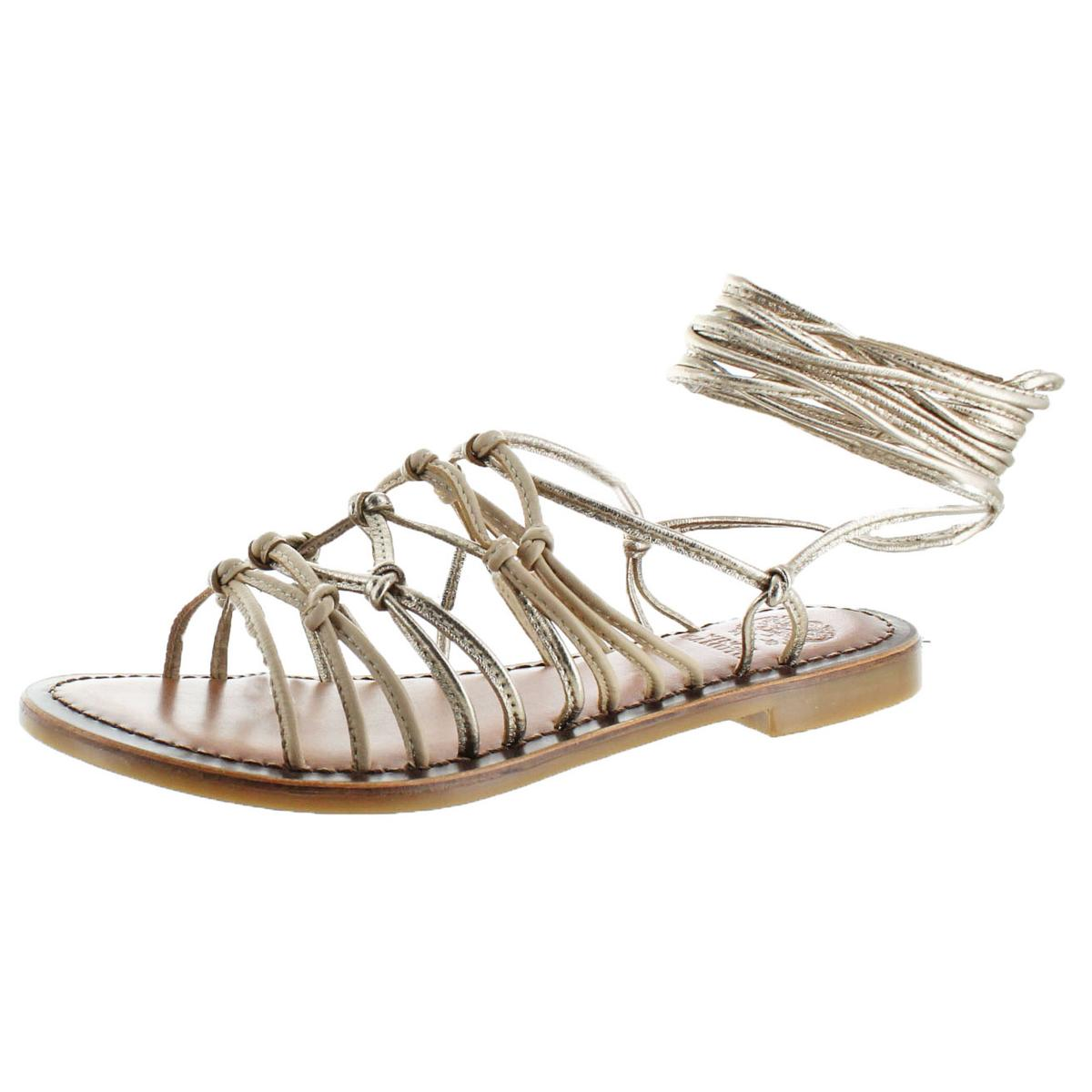 a8739ce83ea Image is loading Vince-Camuto-Womens-Hailey-Beige-Gladiator-Sandals-6-