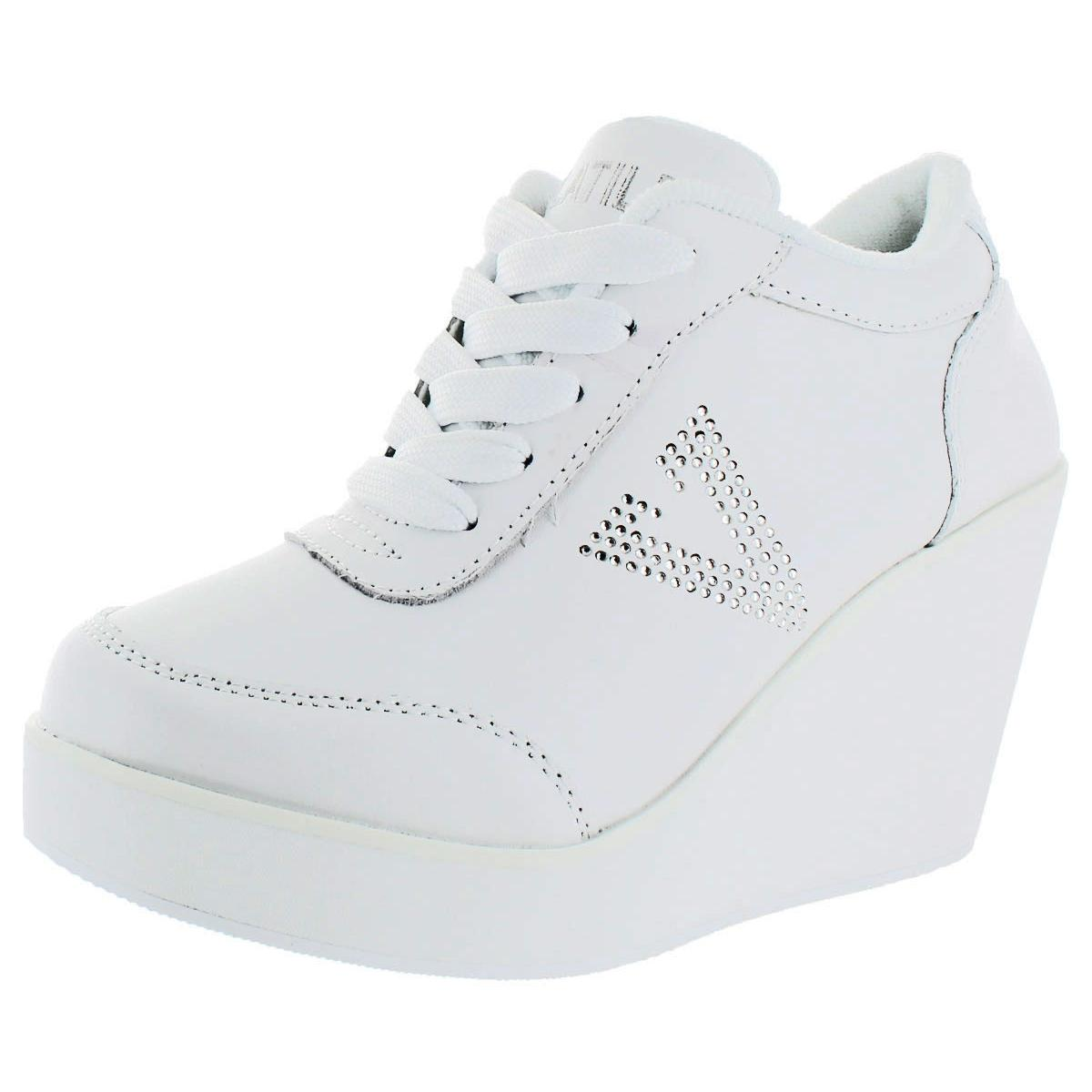 VOLATILE Cash Women US 8 White Wedge Heel Pre Owned 1578  7827325d27