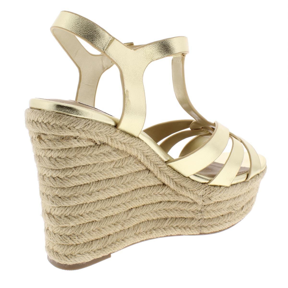 4e9fcec493c Details about Steve Madden Womens Keesha Leather Strappy Espadrilles Wedges  BHFO 1223