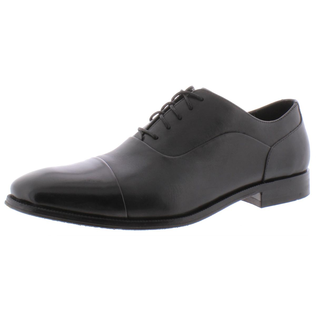 The Men/'s Store Mens Leather Cap Toe Dress Oxfords Shoes BHFO 9130