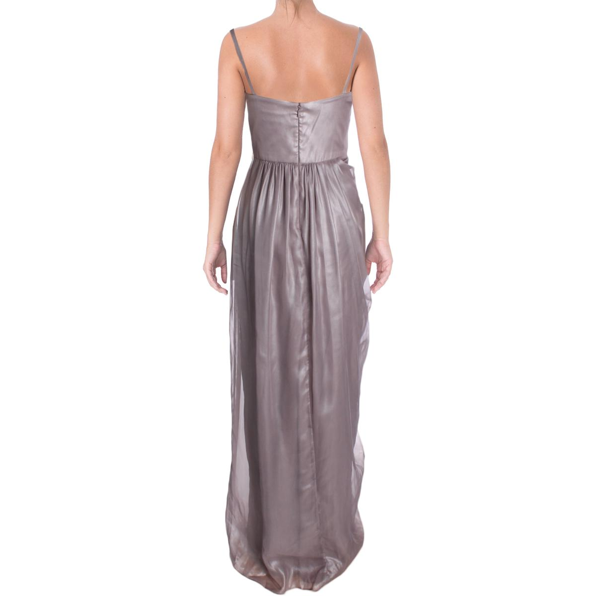 Vera-Wang-Womens-Chiffon-Shimmer-Sleeveless-Evening-Dress-Gown-BHFO-5823