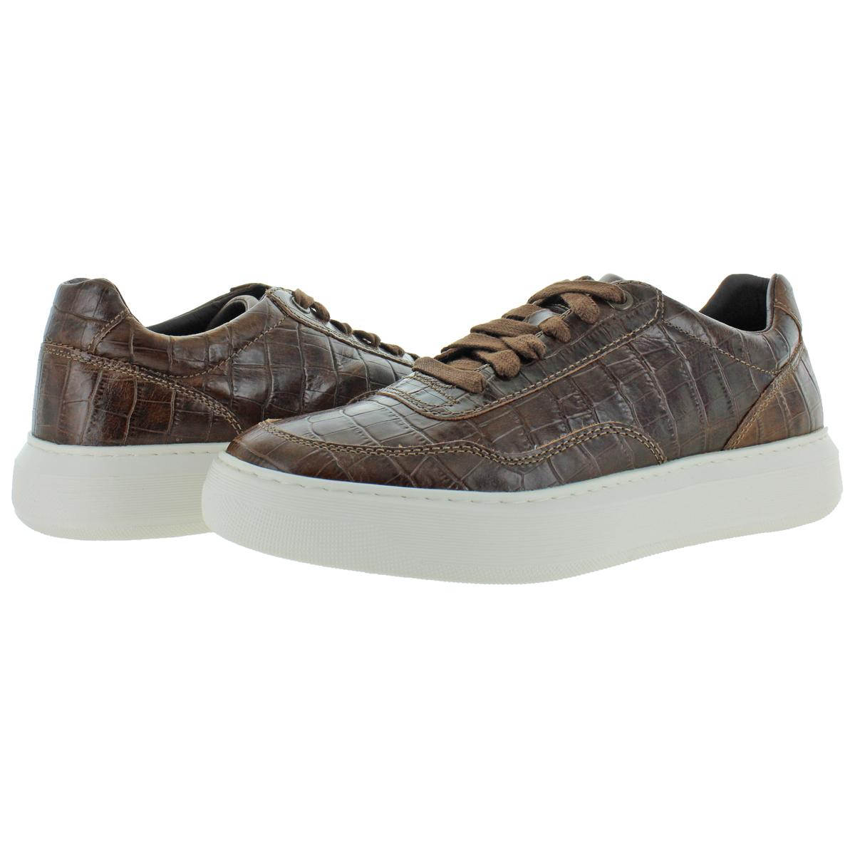 la nieve Canciones infantiles .  Geox Respira Mens Deiven Leather Embossed Fashion Sneakers Shoes BHFO 3931  | eBay