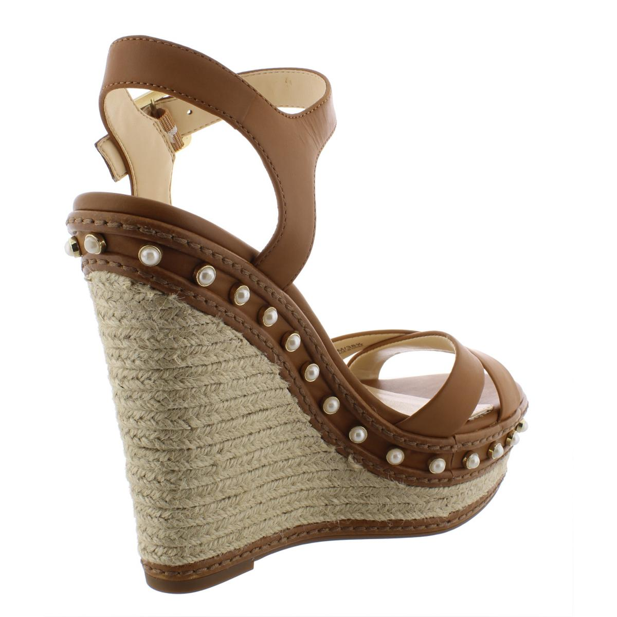 Jessica-Simpson-Womens-Aeralin-Leather-Espadrilles-Wedges-Shoes-BHFO-6006 thumbnail 6